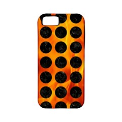 Circles1 Black Marble & Fire (r) Apple Iphone 5 Classic Hardshell Case (pc+silicone) by trendistuff