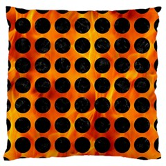 Circles1 Black Marble & Fire (r) Standard Flano Cushion Case (one Side) by trendistuff