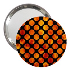 Circles2 Black Marble & Fire 3  Handbag Mirrors by trendistuff