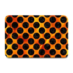 Circles2 Black Marble & Fire (r) Plate Mats by trendistuff