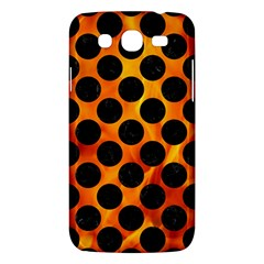 Circles2 Black Marble & Fire (r) Samsung Galaxy Mega 5 8 I9152 Hardshell Case  by trendistuff