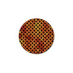 Circles3 Black Marble & Fire Golf Ball Marker by trendistuff