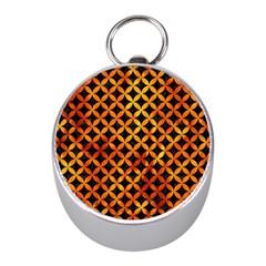 Circles3 Black Marble & Fire Mini Silver Compasses by trendistuff
