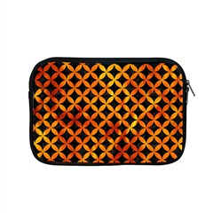 Circles3 Black Marble & Fire Apple Macbook Pro 15  Zipper Case by trendistuff