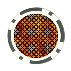 Circles3 Black Marble & Fire (r) Poker Chip Card Guard by trendistuff