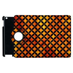 Circles3 Black Marble & Fire (r) Apple Ipad 3/4 Flip 360 Case by trendistuff