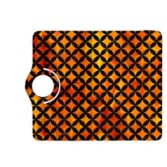 Circles3 Black Marble & Fire (r) Kindle Fire Hdx 8 9  Flip 360 Case by trendistuff