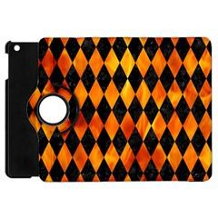 Diamond1 Black Marble & Fire Apple Ipad Mini Flip 360 Case by trendistuff