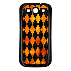 Diamond1 Black Marble & Fire Samsung Galaxy S3 Back Case (black) by trendistuff
