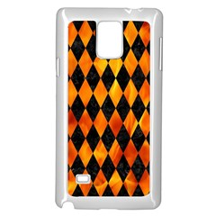 Diamond1 Black Marble & Fire Samsung Galaxy Note 4 Case (white) by trendistuff