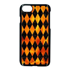 Diamond1 Black Marble & Fire Apple Iphone 7 Seamless Case (black)