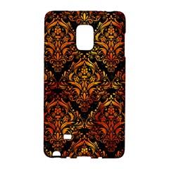 Damask1 Black Marble & Fire Galaxy Note Edge by trendistuff