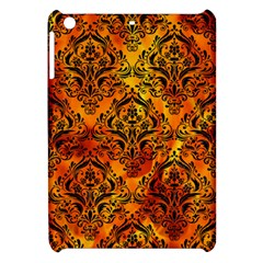 Damask1 Black Marble & Fire (r) Apple Ipad Mini Hardshell Case by trendistuff