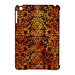 Damask2 Black Marble & Fire Apple Ipad Mini Hardshell Case (compatible With Smart Cover) by trendistuff