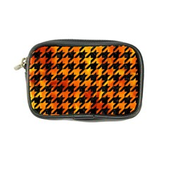 Houndstooth1 Black Marble & Fire Coin Purse by trendistuff