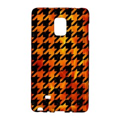 Houndstooth1 Black Marble & Fire Galaxy Note Edge by trendistuff