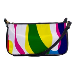 Anatomicalrainbow Wave Chevron Pink Blue Yellow Green Shoulder Clutch Bags by Mariart