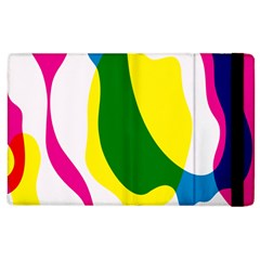 Anatomicalrainbow Wave Chevron Pink Blue Yellow Green Apple Ipad 2 Flip Case by Mariart