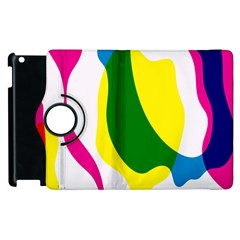 Anatomicalrainbow Wave Chevron Pink Blue Yellow Green Apple Ipad 2 Flip 360 Case by Mariart
