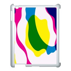 Anatomicalrainbow Wave Chevron Pink Blue Yellow Green Apple Ipad 3/4 Case (white) by Mariart