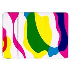 Anatomicalrainbow Wave Chevron Pink Blue Yellow Green Samsung Galaxy Tab 8 9  P7300 Flip Case by Mariart