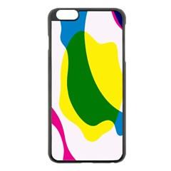Anatomicalrainbow Wave Chevron Pink Blue Yellow Green Apple Iphone 6 Plus/6s Plus Black Enamel Case by Mariart