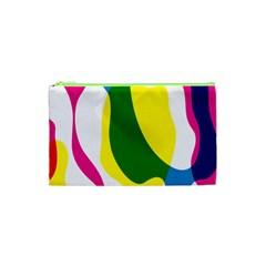Anatomicalrainbow Wave Chevron Pink Blue Yellow Green Cosmetic Bag (xs) by Mariart