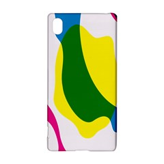 Anatomicalrainbow Wave Chevron Pink Blue Yellow Green Sony Xperia Z3+ by Mariart