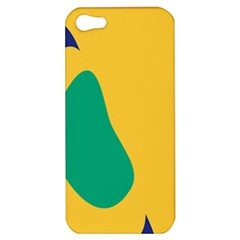 Yellow Green Blue Apple Iphone 5 Hardshell Case by Mariart