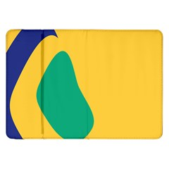Yellow Green Blue Samsung Galaxy Tab 8 9  P7300 Flip Case by Mariart