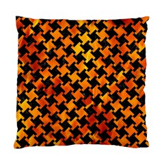 Houndstooth2 Black Marble & Fire Standard Cushion Case (one Side) by trendistuff