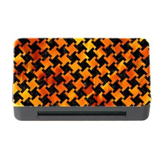 Houndstooth2 Black Marble & Fire Memory Card Reader With Cf by trendistuff
