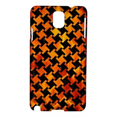 Houndstooth2 Black Marble & Fire Samsung Galaxy Note 3 N9005 Hardshell Case by trendistuff