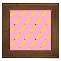 Banana Fruit Yellow Pink Framed Tiles by Mariart