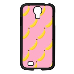 Banana Fruit Yellow Pink Samsung Galaxy S4 I9500/ I9505 Case (black) by Mariart
