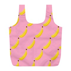 Banana Fruit Yellow Pink Full Print Recycle Bags (l)  by Mariart