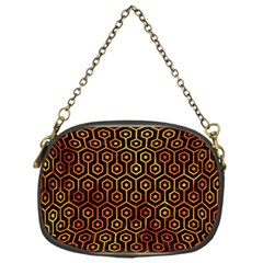 Hexagon1 Black Marble & Fire Chain Purses (one Side)  by trendistuff