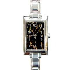 Animated Falling Spinning Shining 3d Golden Dollar Signs Against Transparent Rectangle Italian Charm Watch by Mariart