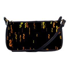 Animated Falling Spinning Shining 3d Golden Dollar Signs Against Transparent Shoulder Clutch Bags by Mariart