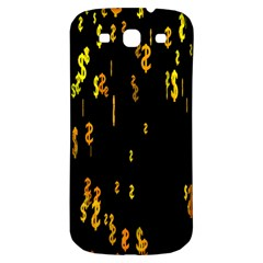 Animated Falling Spinning Shining 3d Golden Dollar Signs Against Transparent Samsung Galaxy S3 S Iii Classic Hardshell Back Case by Mariart