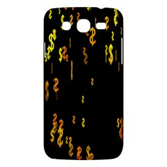 Animated Falling Spinning Shining 3d Golden Dollar Signs Against Transparent Samsung Galaxy Mega 5 8 I9152 Hardshell Case  by Mariart