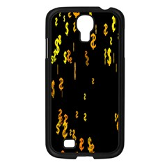 Animated Falling Spinning Shining 3d Golden Dollar Signs Against Transparent Samsung Galaxy S4 I9500/ I9505 Case (black) by Mariart