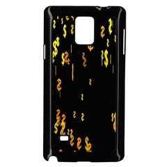 Animated Falling Spinning Shining 3d Golden Dollar Signs Against Transparent Samsung Galaxy Note 4 Case (black)