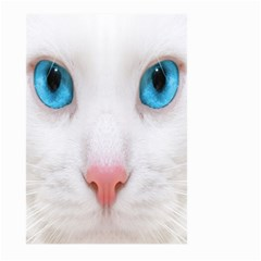 Beautiful White Face Cat Animals Blue Eye Large Garden Flag (two Sides) by Mariart