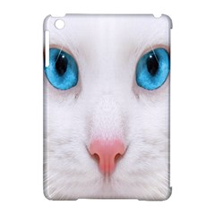 Beautiful White Face Cat Animals Blue Eye Apple Ipad Mini Hardshell Case (compatible With Smart Cover) by Mariart