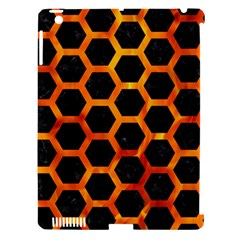 Hexagon2 Black Marble & Fire Apple Ipad 3/4 Hardshell Case (compatible With Smart Cover) by trendistuff