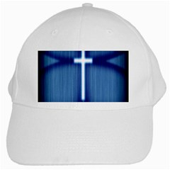 Blue Cross Christian White Cap by Mariart
