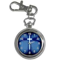 Blue Cross Christian Key Chain Watches by Mariart