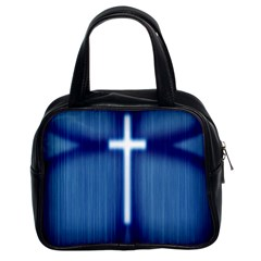 Blue Cross Christian Classic Handbags (2 Sides) by Mariart