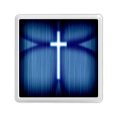 Blue Cross Christian Memory Card Reader (square)  by Mariart